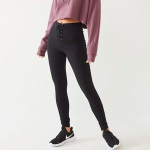Out From Under Lace-Up Waistband Legging